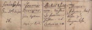 Schriftbeispiel Deutsche Schreibschrift 1725