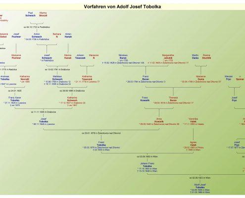 Vorfahrenbaum Adolf Tobolka