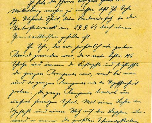 Brief an Josef Scheit Seite 1