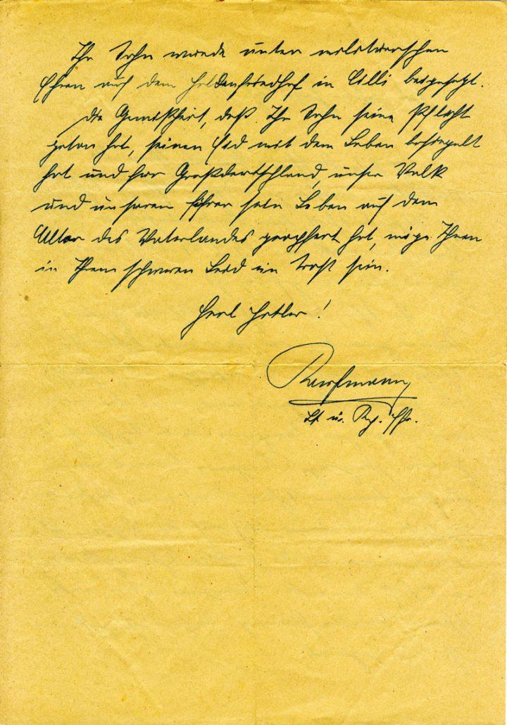 Brief an Josef Scheit Seite 2