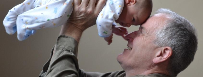 Ahnenforschung Tobolka Vater mit Kind